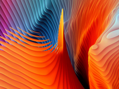 Обои Colors, colorful, Abstract, rendering, digital art, shape, color artwork скачать