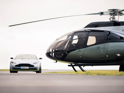Обои ACH130 Aston Martin Edition, Aston Martin, Астон Мартин, VIP-вертолет, Stirling Green, Airbus Corporate Helicopters, helicopter скачать