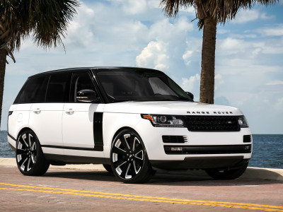 Обои gloss, Supercharged, black, two-tone, with, painted, Range Rover скачать