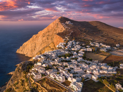 Обои Island, Greece, South Aegean, Folégandros скачать