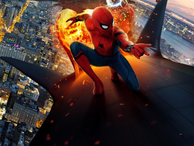 Обои tom holland, spider man, peter parker, spider man: homecoming, New york city, film скачать