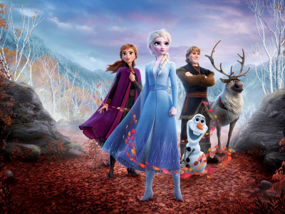 Обои Winter, Queen, Frozen, Girls, Red, Tree, Snow, ..., Nature, Fantasy, Beautiful, Blizzard, Female, Anime, Wood, Anna скачать