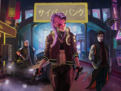 Rpg, video game, night city, CD Projekt RED, Cyberpunk 2077, Cyberpunk