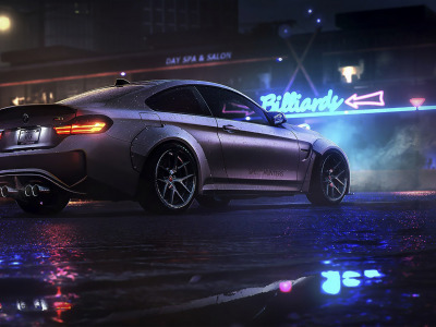 night, game, BMW, Electronic Arts, BMW M4, Ночь, art, Need For ..., NFS, Need For Speed