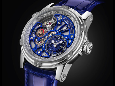 Обои Tempograph, Blue, Louis Moinet, watch analog скачать