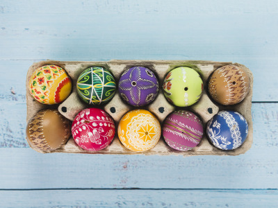 Весна, colorful, Пасха, wood, spring, Easter, eggs, decoration, Happy, яйца крашеные