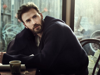 For Esquire, Chris Evans, окно, Взгляд, мужчина