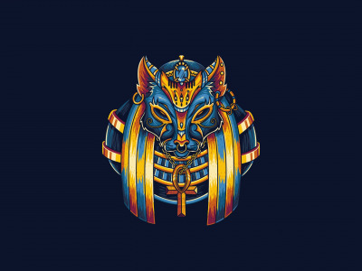 Minimalism, Angga Tantama, Egypt, Background, Cat, Illustration, Vector, Egypt Mythology, God, Art, Egyptian, Beast, Fantasy