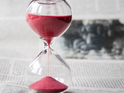 Sand, Hourglass, bokeh, time, book, glass, photography