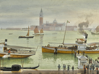 Обои VIEW OF VENICE FROM, watercolour over pencil heightened with white, THE RIVA DEGLI SCHIAVONI, Albert скачать