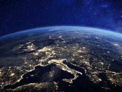 Lights, Europe, planet earth