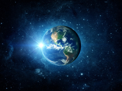 Обои Light, Earth, planet скачать